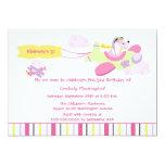 Aeroplane dog pilot girls birthday party 13 cm x 18 cm invitation card