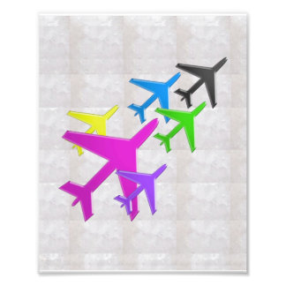 AEROPLANE for KIDS room, schools, daycare and moms Photo Art