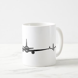 Aeroplane Heartbit Coffee Mug