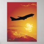 Aeroplane in Flight Poster