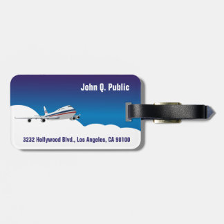Aeroplane in the Clouds Luggage Tags