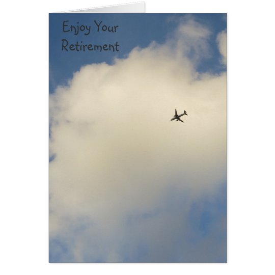 Aeroplane in the Sky Retirement Card
