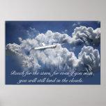 Aeroplane inspirational poster