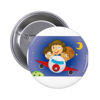 Aeroplane kids 2 inch round button