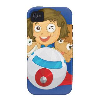 Aeroplane kids iPhone 4 cases