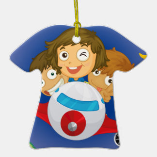Aeroplane kids Double-Sided T-Shirt ceramic christmas ornament