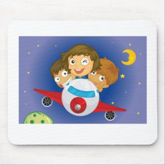 Aeroplane kids mouse pad