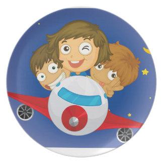 Aeroplane kids party plates