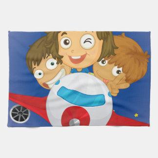 Aeroplane kids hand towel
