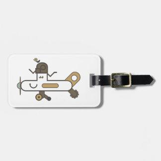 Aeroplane Luggage Tag