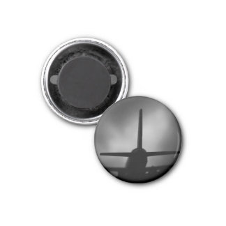 Aeroplane 3 Cm Round Magnet