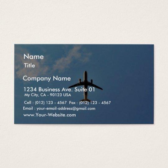 Aeroplane On Sky Business Card