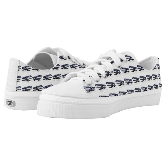 Aeroplane Pattern Low Tops
