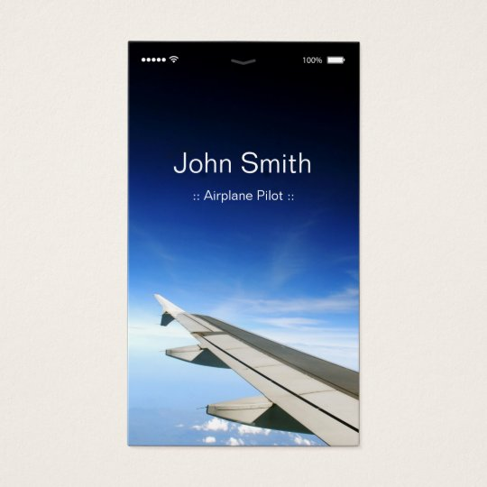 Aeroplane Pilot - Customisable Flat UI Style Business
