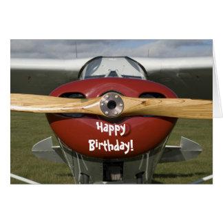 Aeroplane Pilot Happy Birthday Card