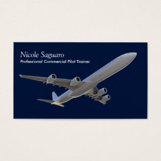 Aeroplane Pilot Trainer Business Card