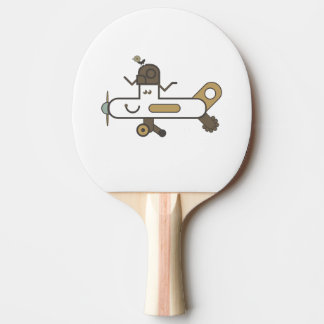 Aeroplane Ping Pong Paddle, Red Rubber Back