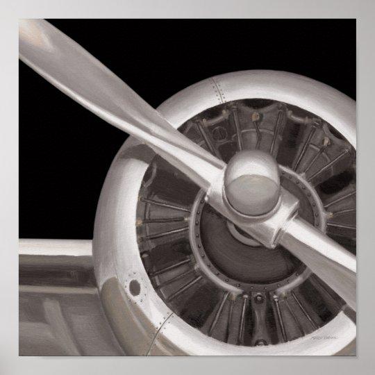 Aeroplane Propeller Closeup Poster