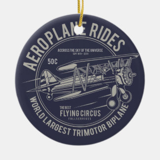 Aeroplane rides flying circus | Airplane Gifts Christmas Ornament