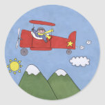 Aeroplane Round Sticker