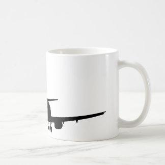 Aeroplane Silhouette, Jet plane Coffee Mug