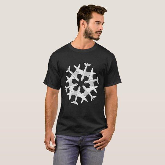 Aeroplane Snowflake Christmas T-Shirt