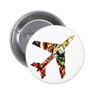 Aeroplane - Sparkling Red Cool Design 6 Cm Round Badge