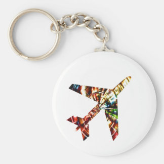 Aeroplane - Sparkling Red Cool Design Key Ring