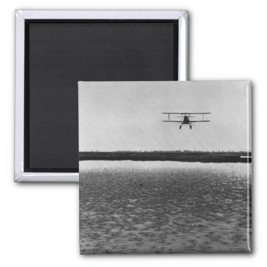 Aeroplane Square Magnet