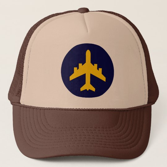 Aeroplane Symbol in Circle Trucker Hat