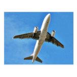 Aeroplane Takeoff On Blue Sky