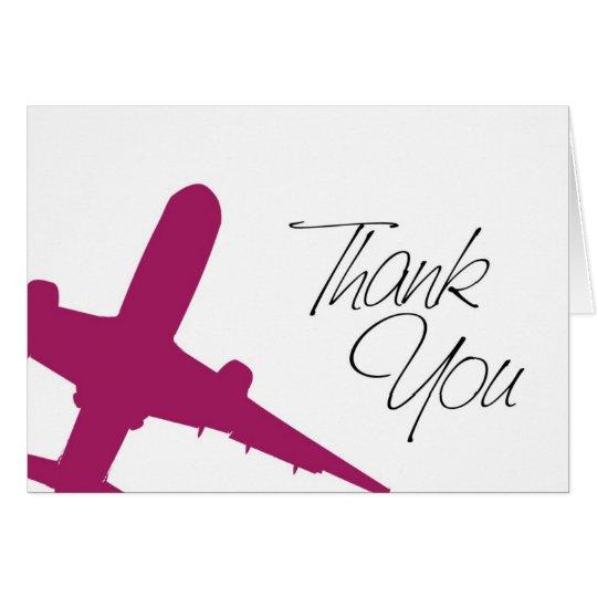 Aeroplane Thank You's Card