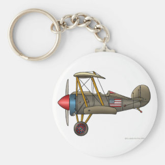Aeroplane Vintage Biplane Key Chains