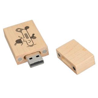 Aeroplane Wood USB Flash Drive