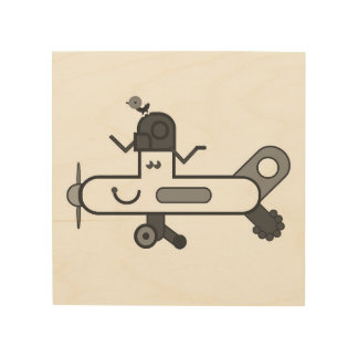 Aeroplane Wood Wall Art