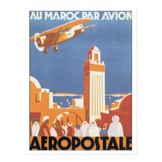 Aeropostale Au Maroc Par Avion Post Cards