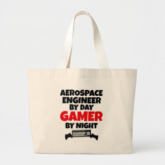 Aerospace Engineer by Day Gamer by Night Large Tote Bag