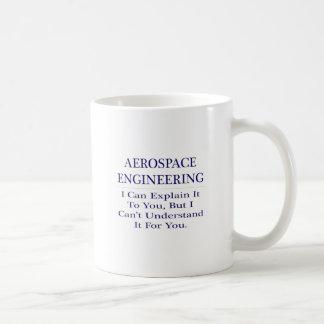 Aerospace Engineer Joke .. Explain Not Understand Basic White Mug