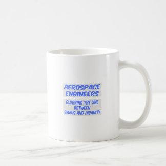 Aerospace Engineer Joke .. Genius and Insanity Basic White Mug