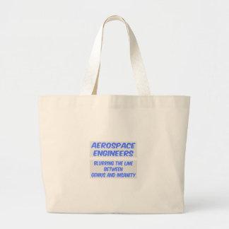 Aerospace Engineer Joke .. Genius and Insanity Jumbo Tote Bag