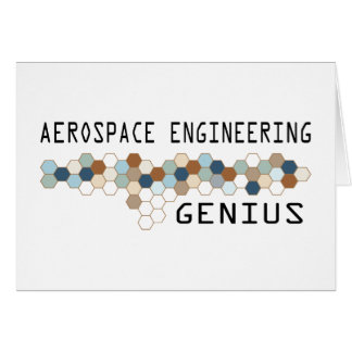 Aerospace Engineering Genius Greeting Card