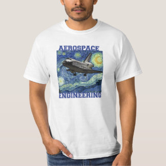 Aerospace Engineering Starry Night T-shirt