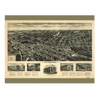 Aeroview of Westwood, New Jersey (1924) Postcard