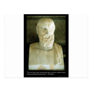 """Aeschylus """"Proverb Saith"""" Quote Gifts Tees Etc Postcard"""