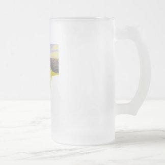 Aesir and Vanir Frosted Glass Beer Mug