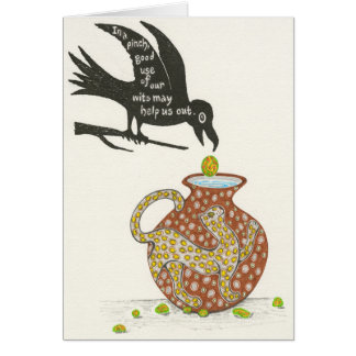 Aesop's Crow and the Pitcher Notecard