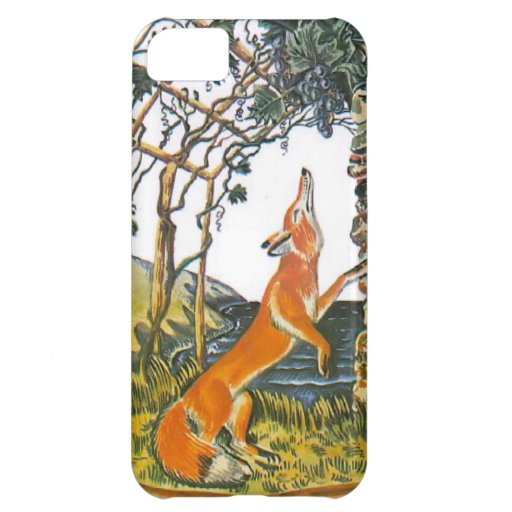 Aesop's fables, the fox and the grapes iPhone 5C cover