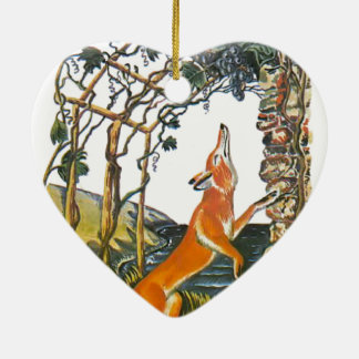 Aesop's fables, the fox and the grapes christmas ornament