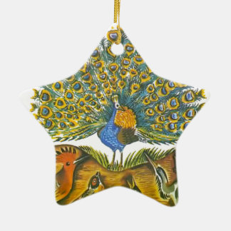 Aesop's fables, the peacock and the birds christmas ornament