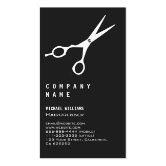 AESTHETIC HAIRDRESSING SALON BARBER BLACK BLACK PACK OF STANDARD BUSINESS CARDS